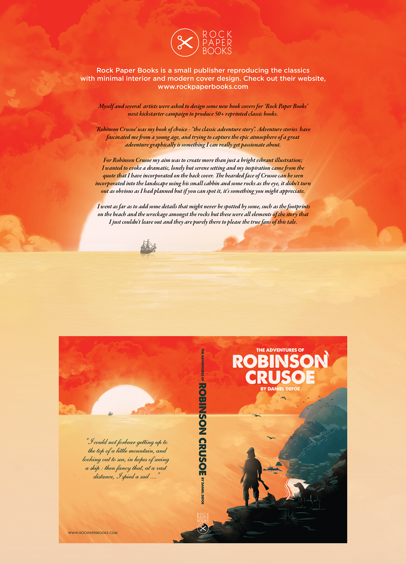 a paper on books related to robinson crusoe