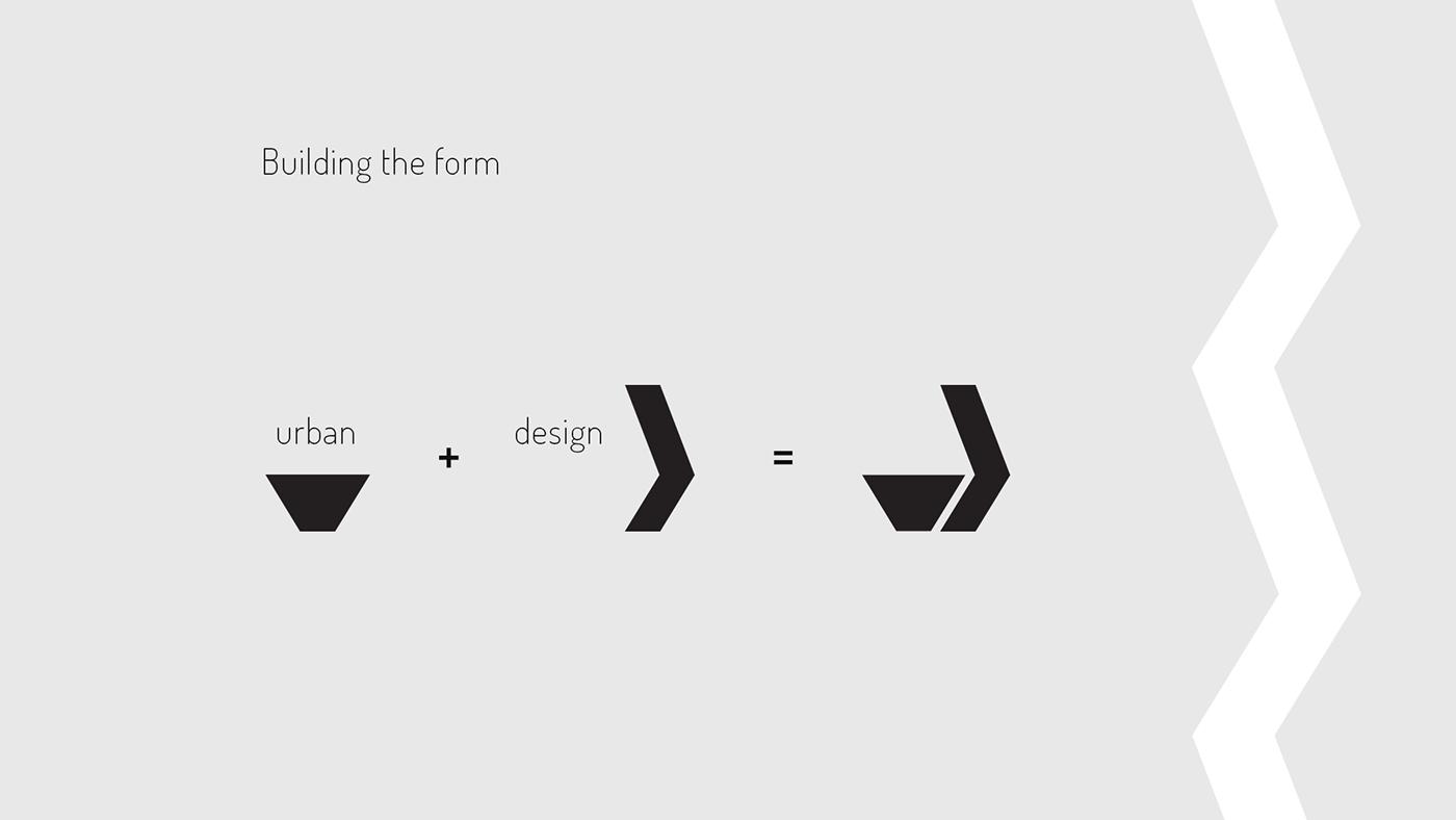 design logo visual identity graphic identity brand brand identity Urban Urban Design