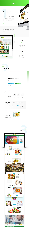 UI Website Web Design  Food  design