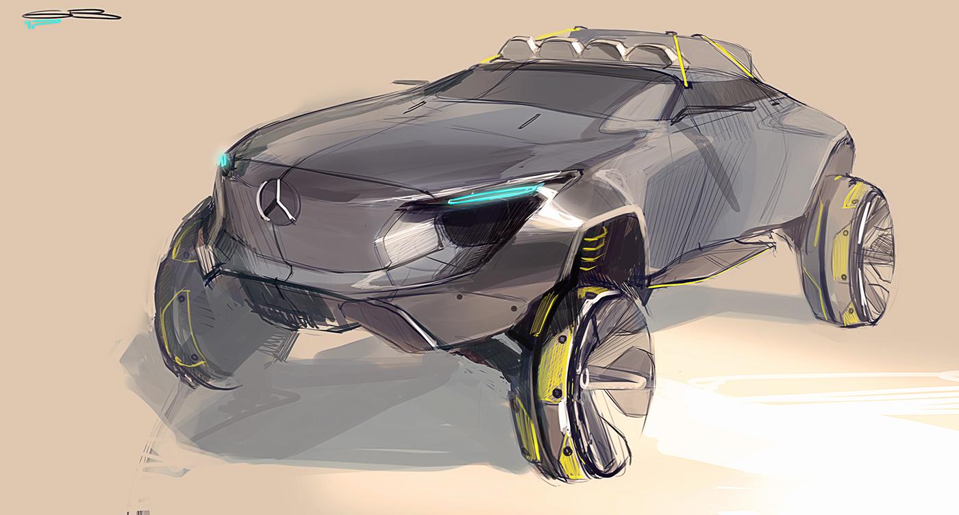 有設計感的20款概念車草圖設計欣賞