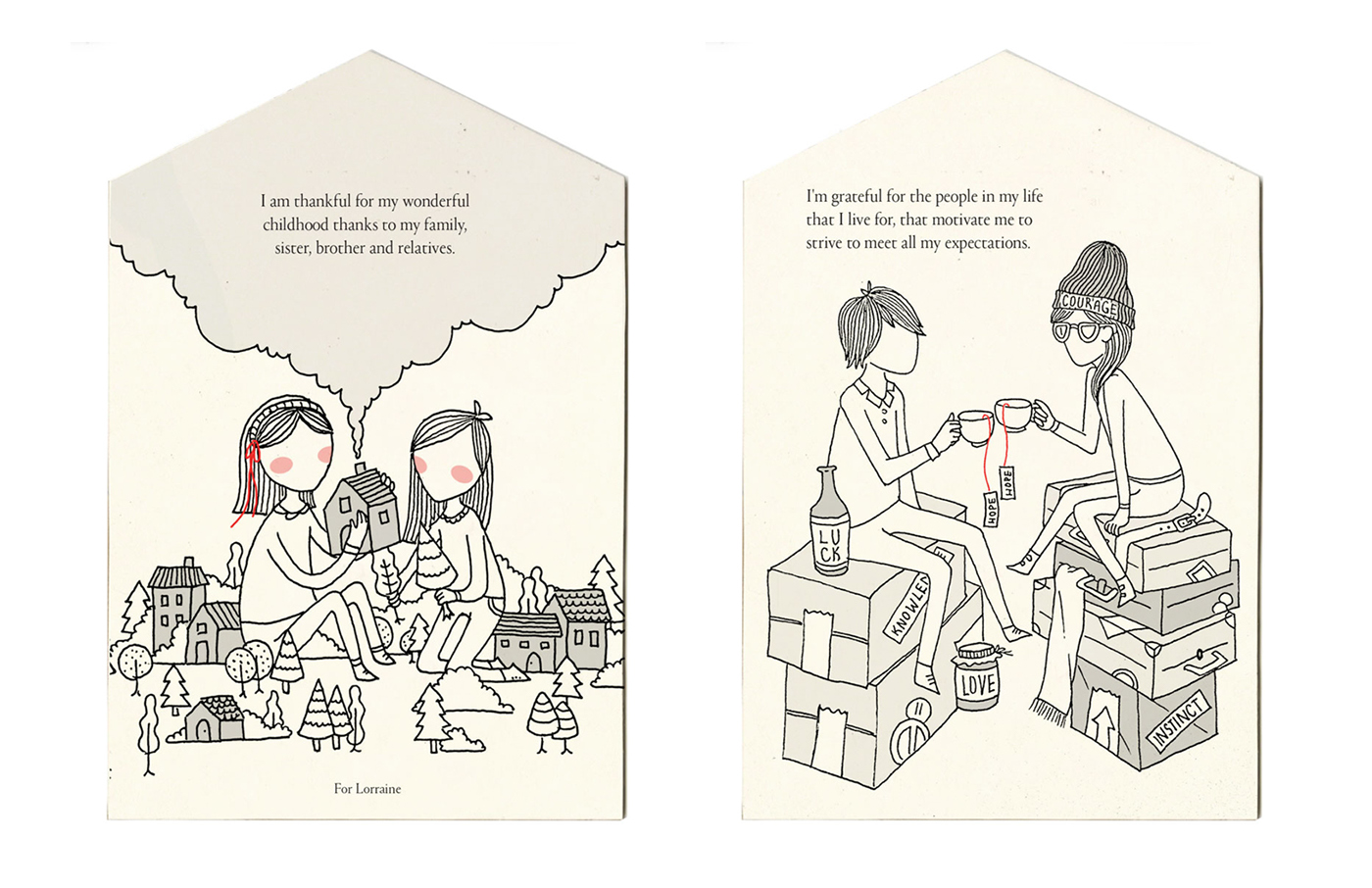 story gif emotion anxiety line pattern series