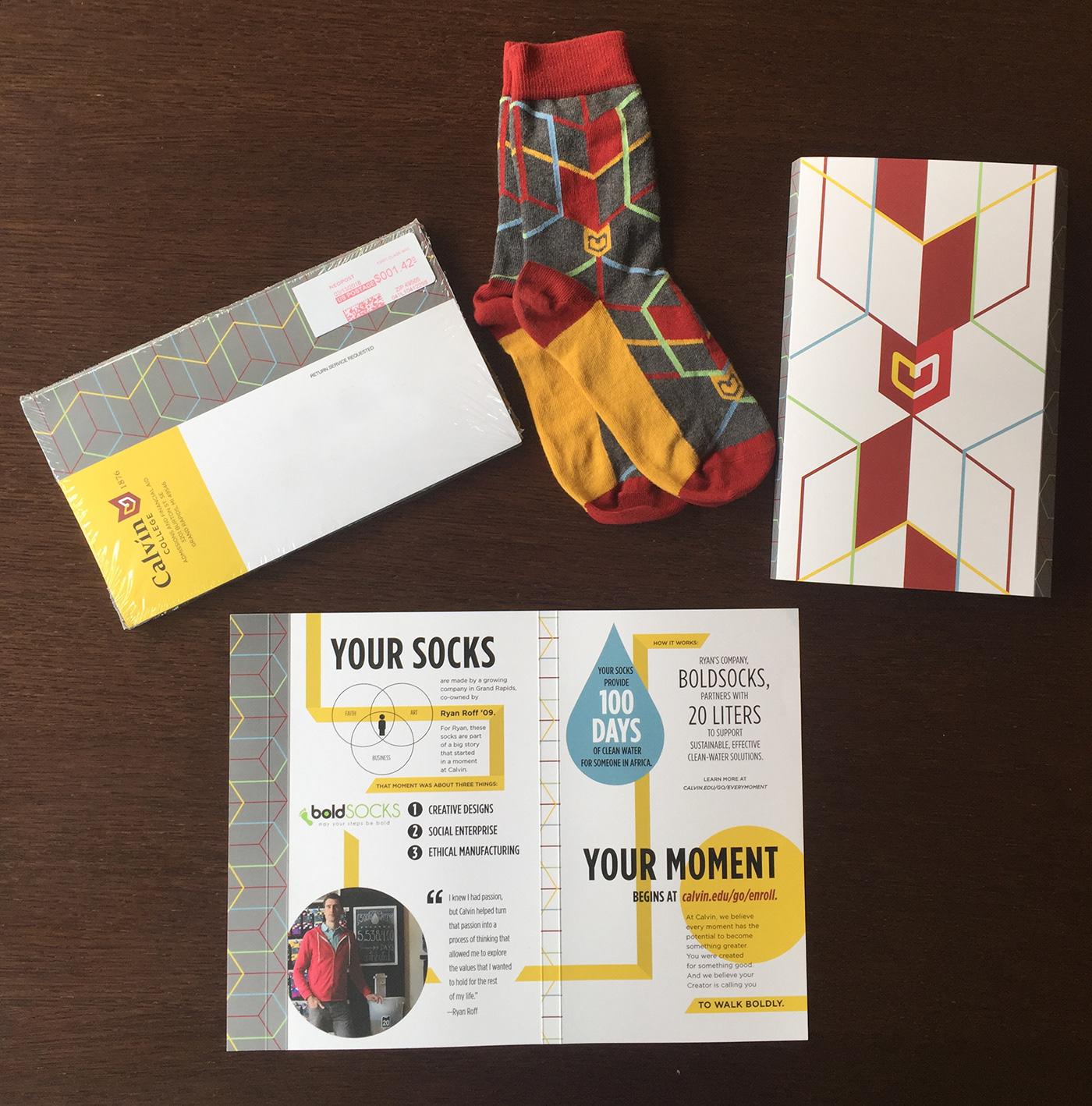 college University campaign multichannel campaign socks