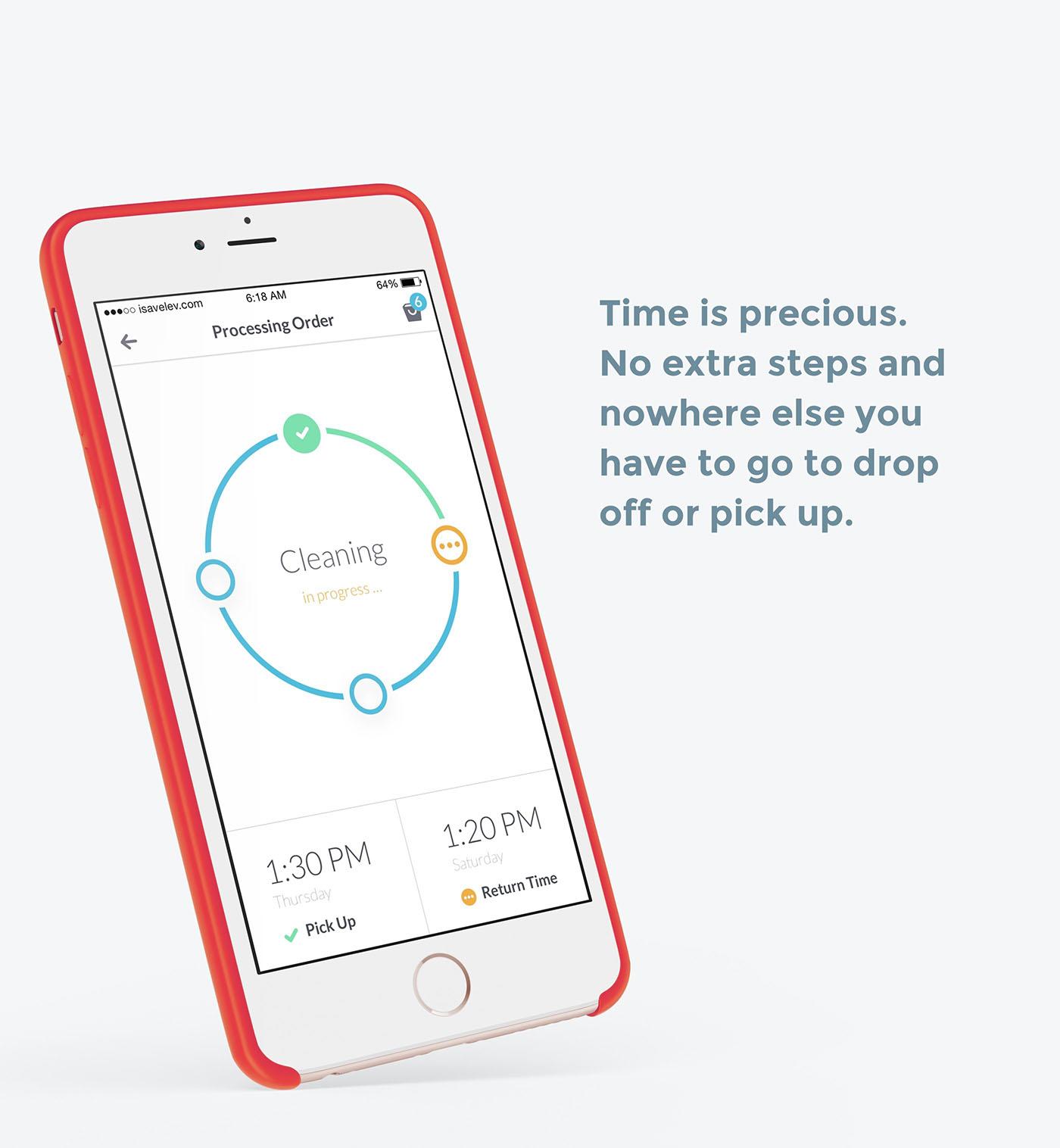 app mobile ios UI laundry ux