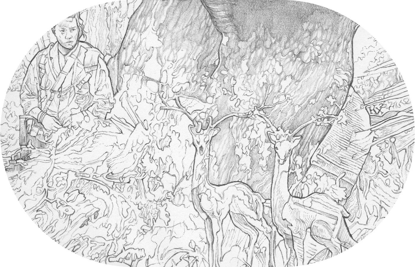 artwork Domaradzki Drawing  ILLUSTRATION  nine poster steelbook StudioKxx Various clients