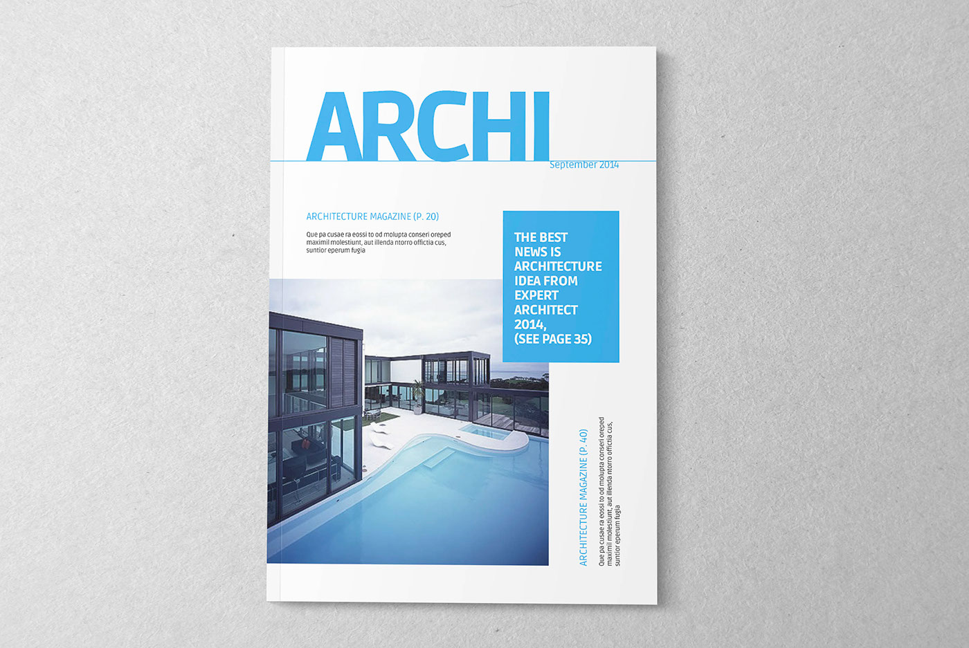 Architecture magazine template on behance for D architecture magazine