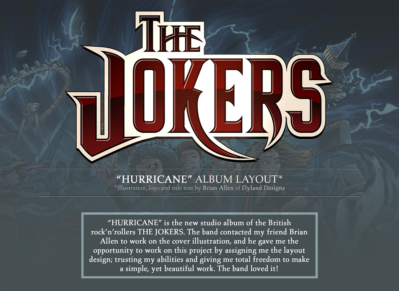 the jokers hurricane album layout on behance. Black Bedroom Furniture Sets. Home Design Ideas