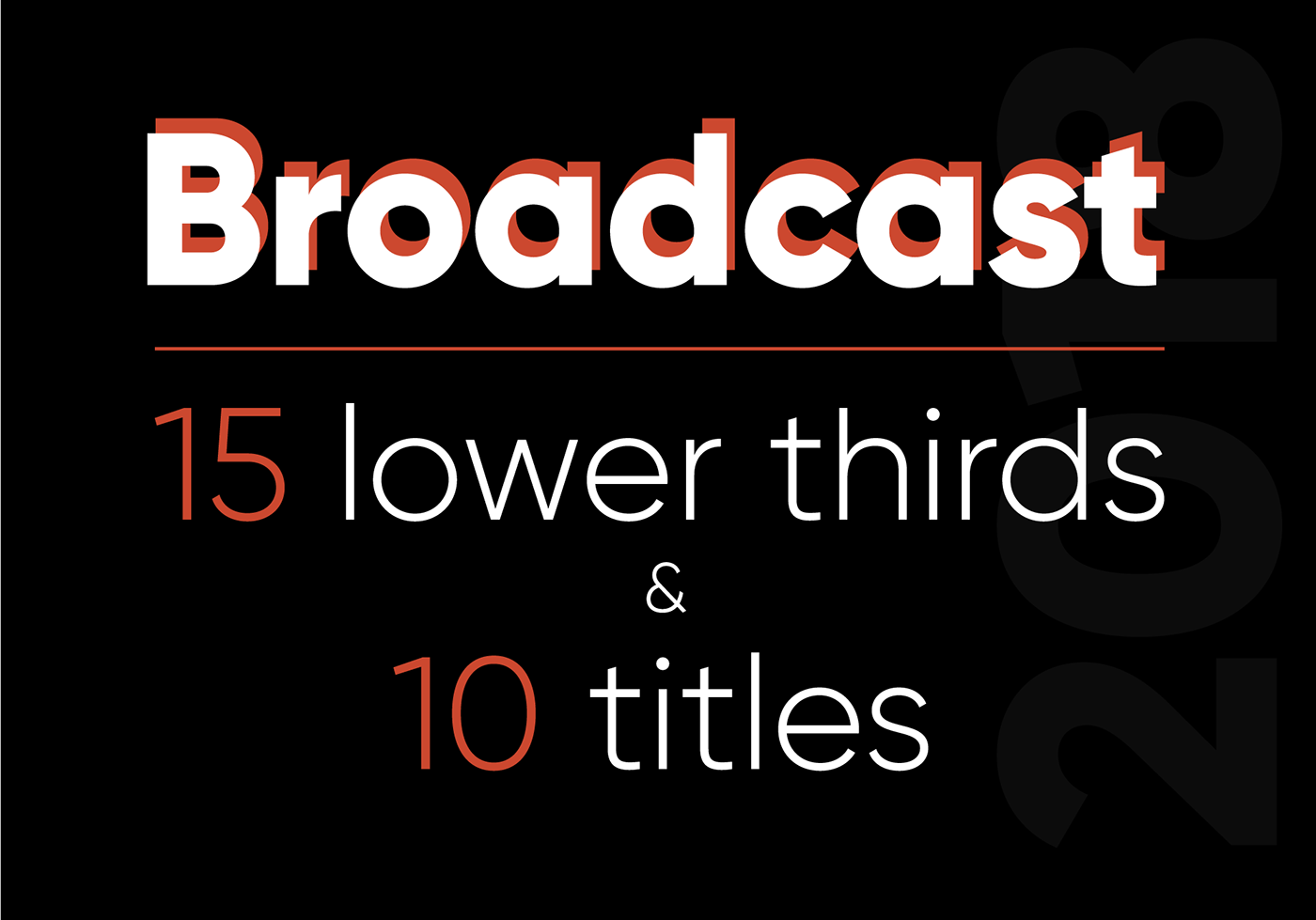 titles Lower Thirds intro Pack animation  corporate broadcast typography   video tv