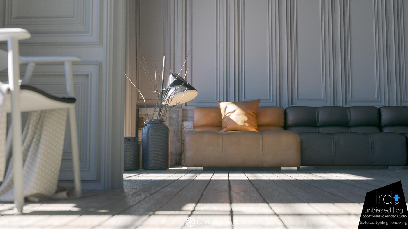 B b italia interior render design on behance - Interior design italia ...