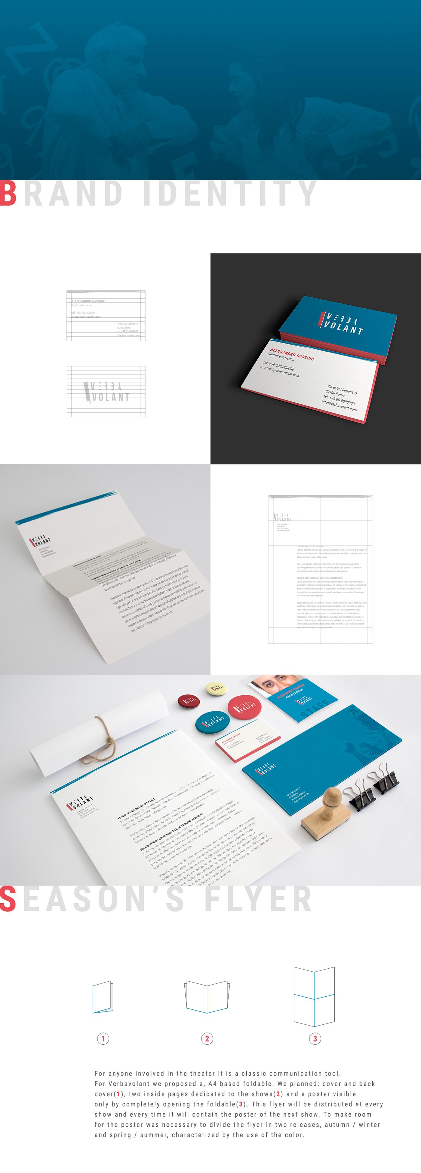 graphic design  branding  brand logo identity school theater  visual identity RESTYLING brush