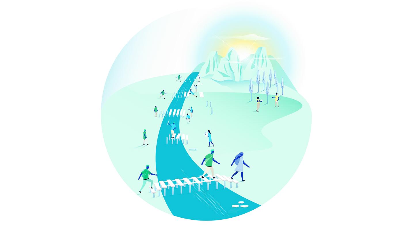 Image may contain: cartoon and skiing