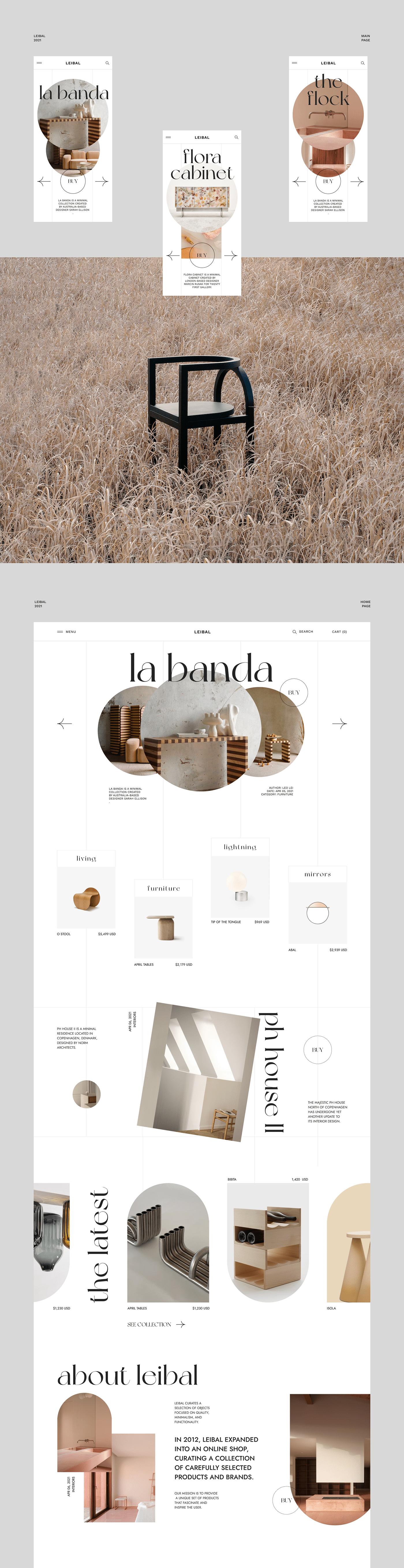 @webdesign #architecture #e-commerce #furniture  #minimalistic #uiux