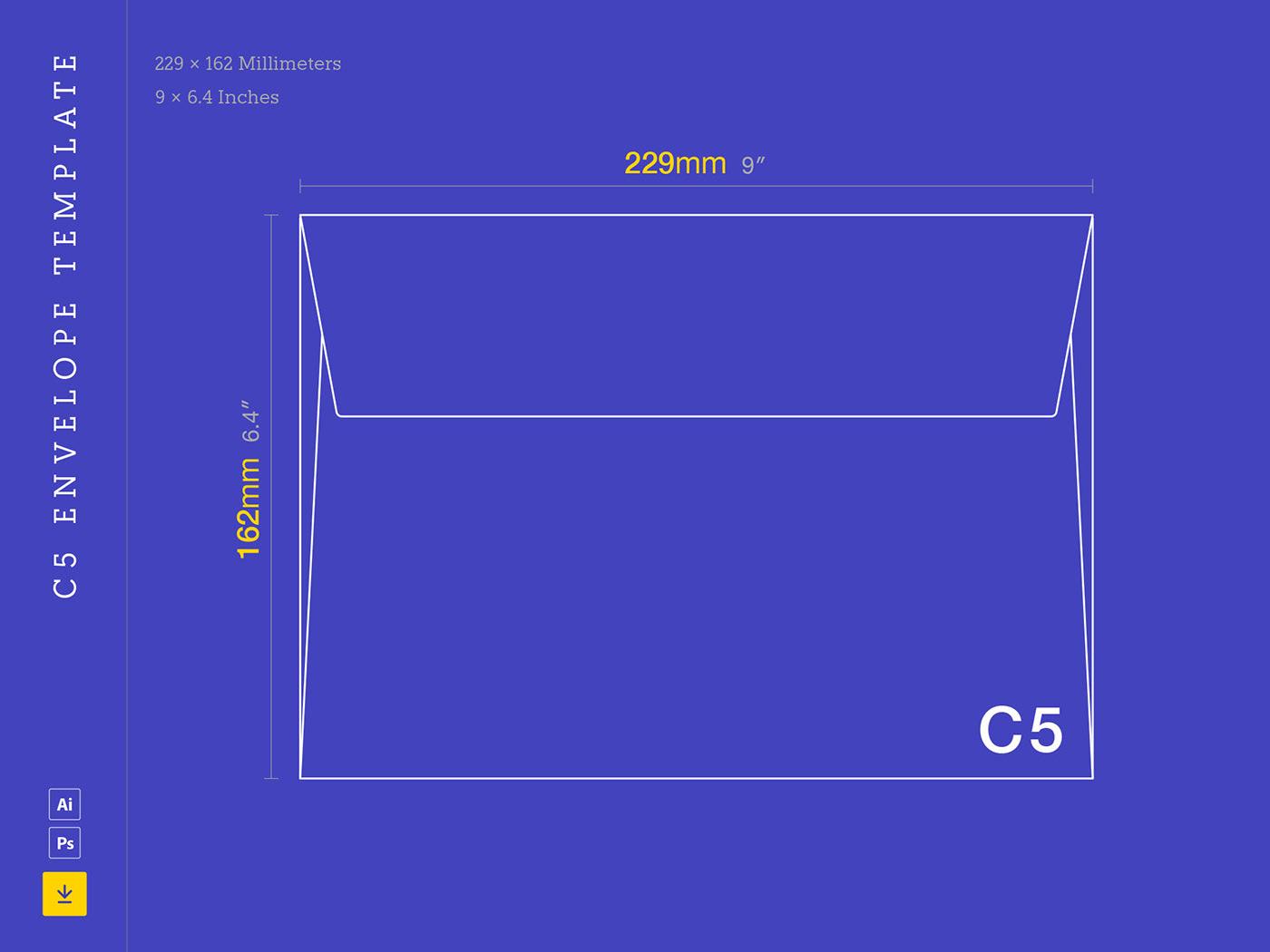 C5 Envelope Template on Behance