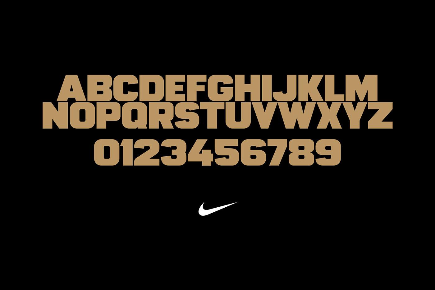 type font Typeface Nike football Display Custom sport