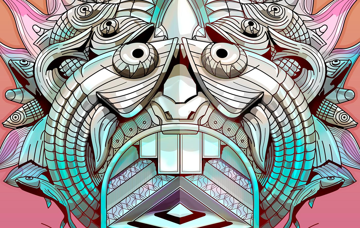 mask breslau mystery ILLUSTRATION  art