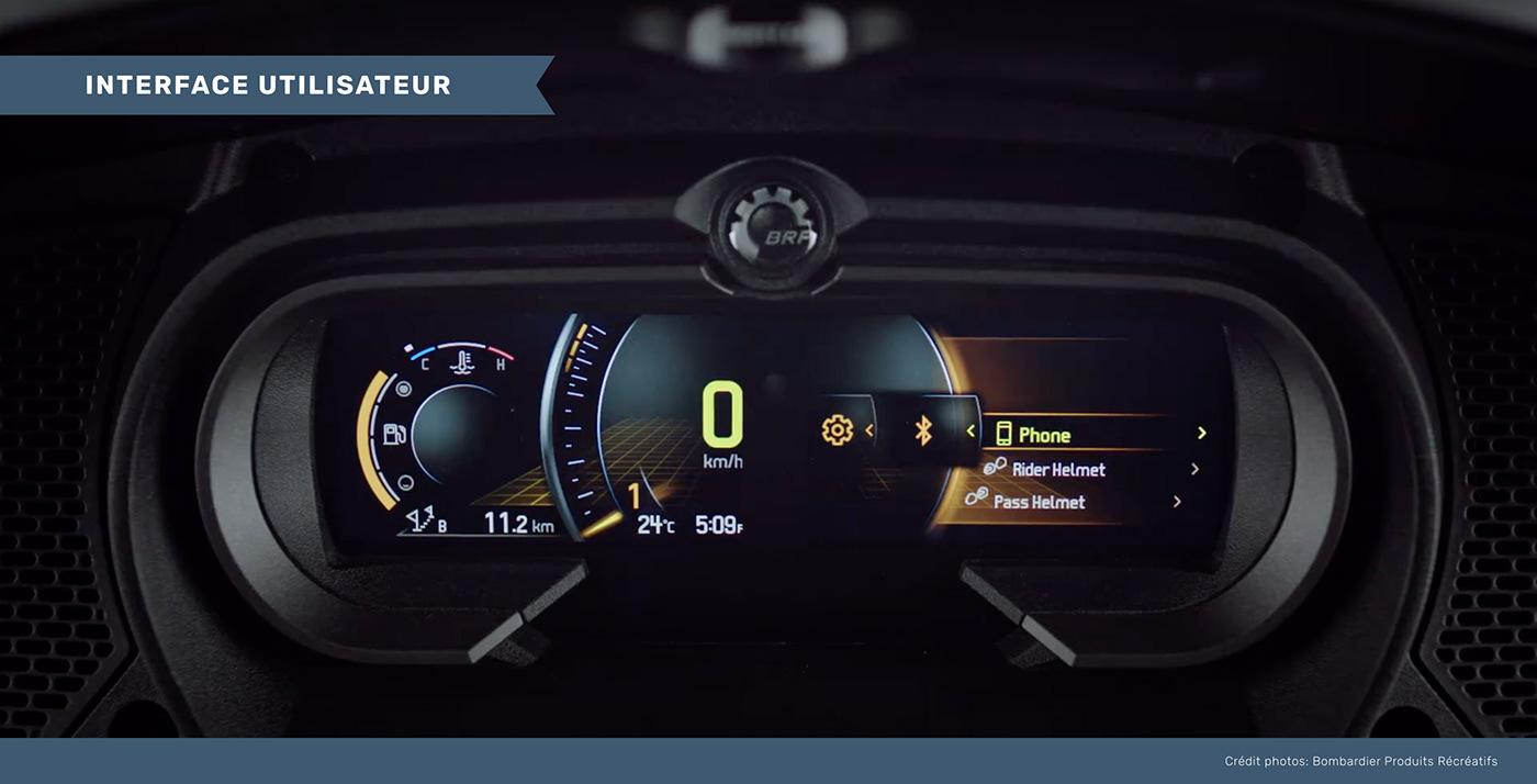 Tableau de bord montrant l'interface interactive créée.
