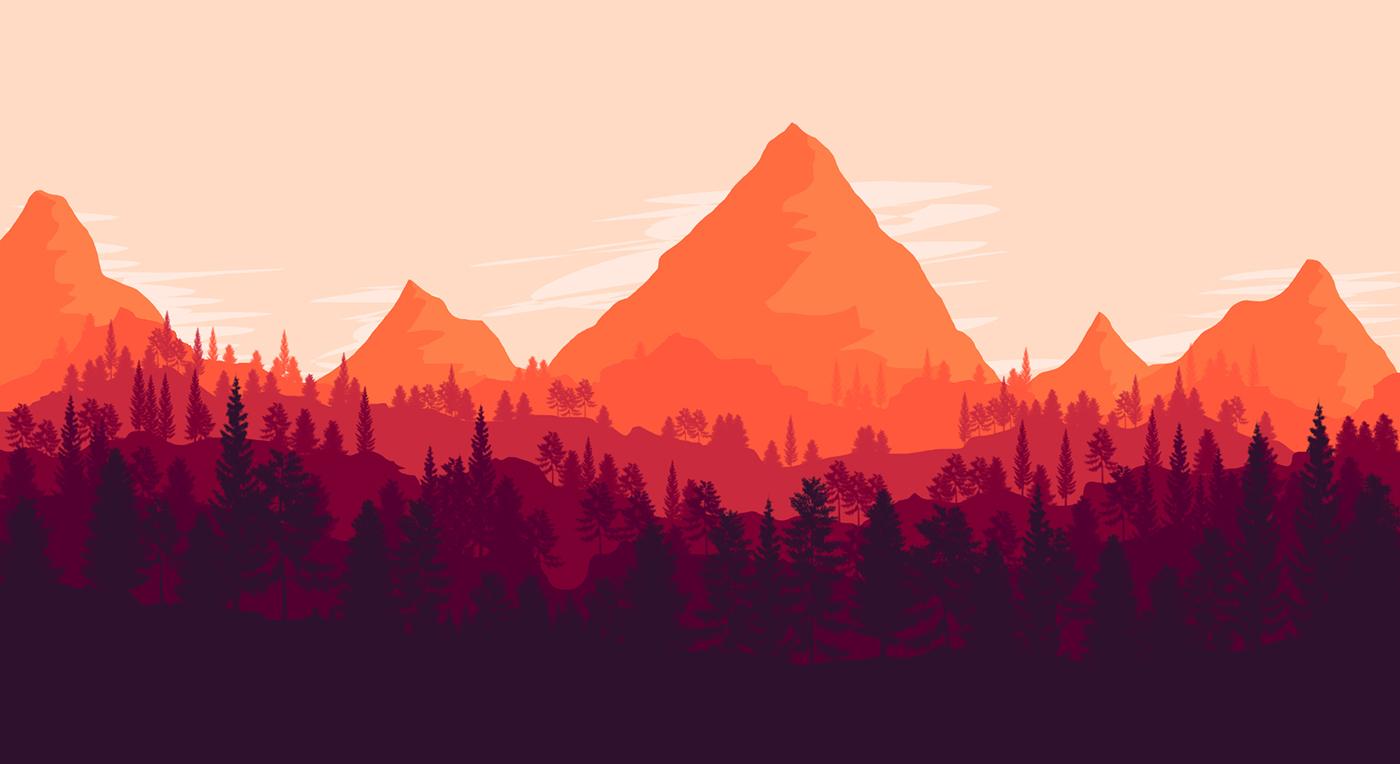 Illustrations of (Milkshake & Mountains) on Behance