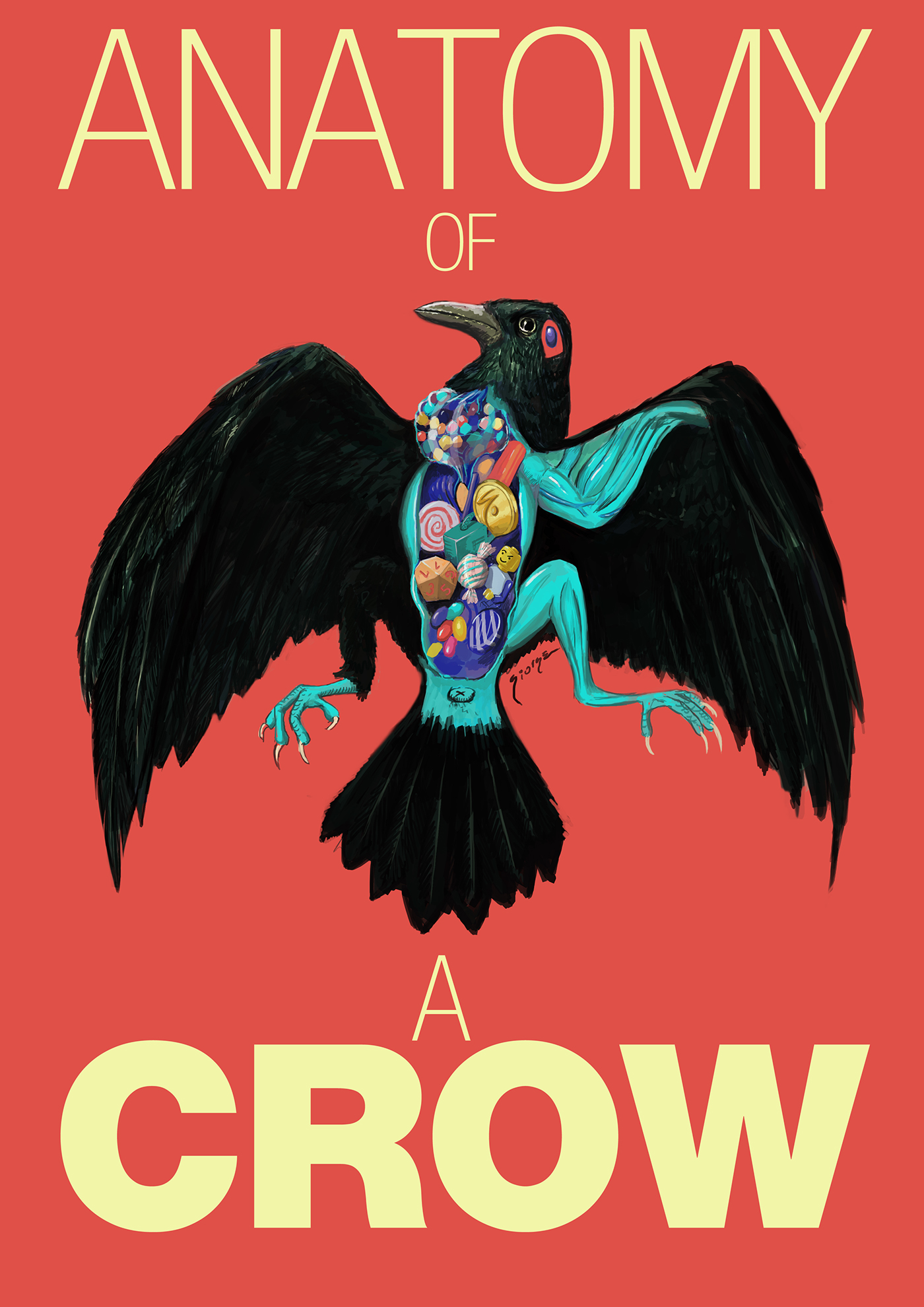 Anatomy of a crow