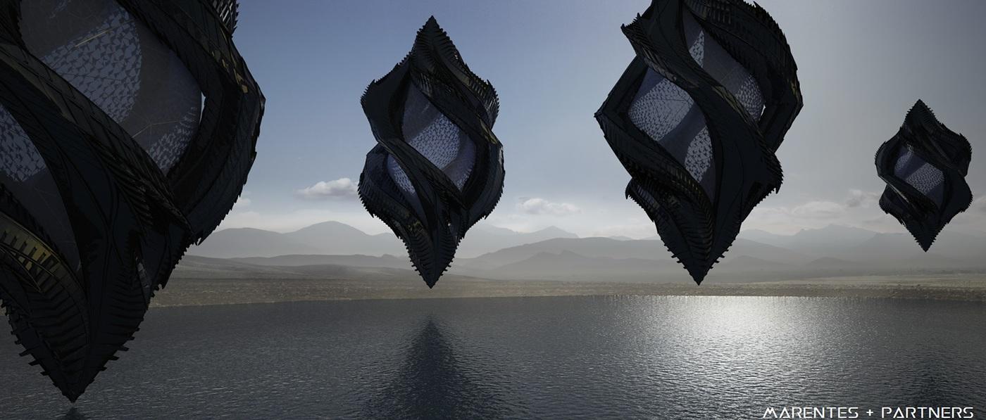 #sicfi #building #organic #space #spaceship #alien #architecture