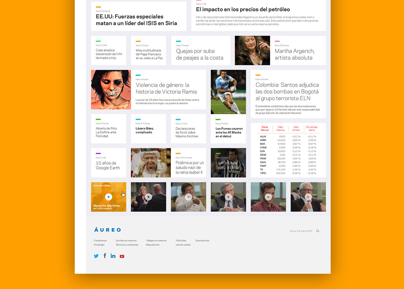 interaction design newspaper digital Gabriele diseño Website user experience Interface graphic