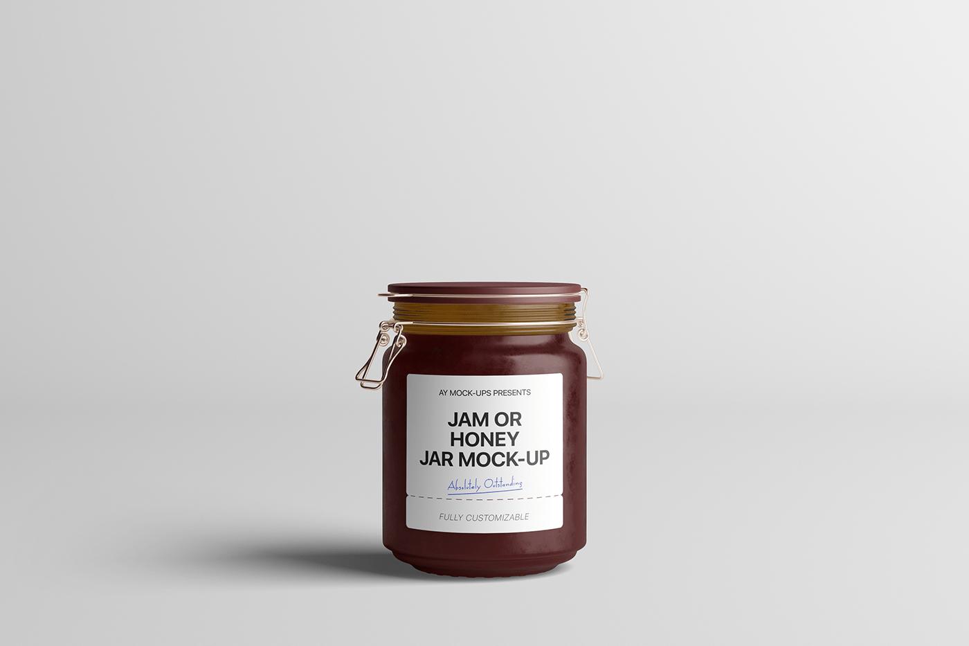 jam jar honey Mockup mock up mock-up