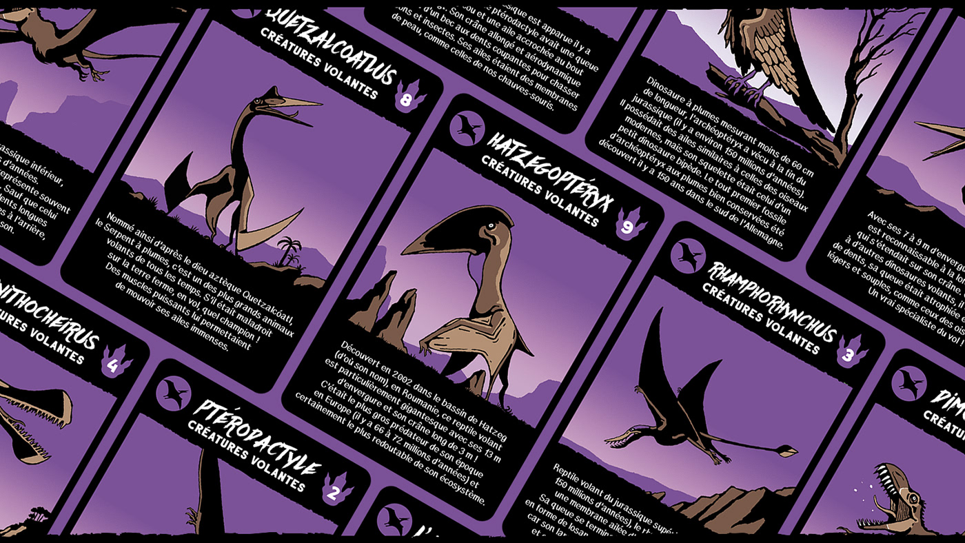 card cardgame Dinosaur edition kid lesdeuxcoqs reptile wargame hachette