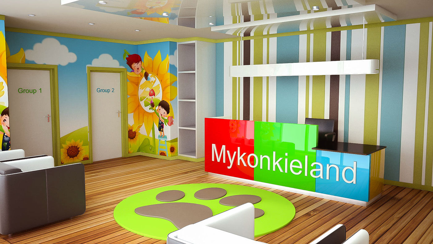 Classroom Wallpaper Design : Kindergarten interior design on behance