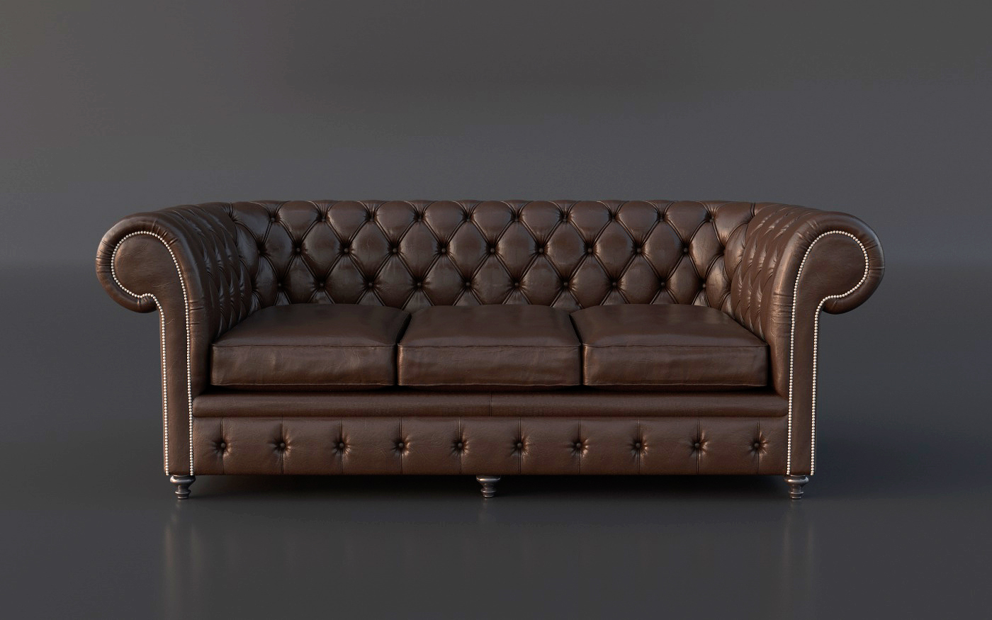 Free chesterfield couch 3d model on behance for Couch mobel