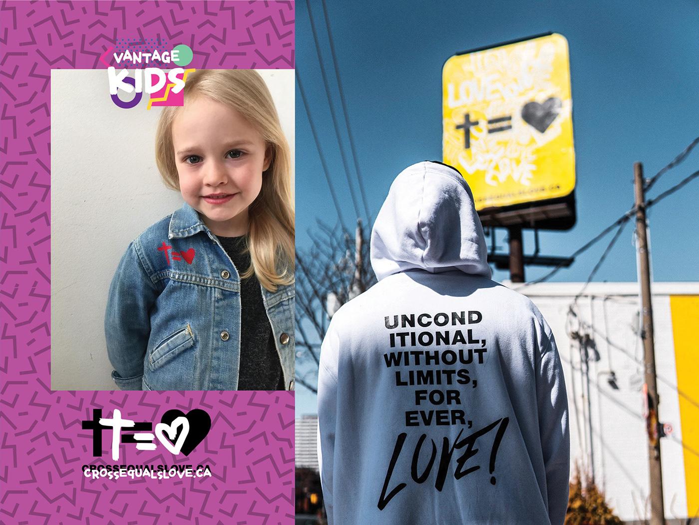 art direction  billboard campaign Creative Direction  cross equals love Easter hillsong Merch print Street