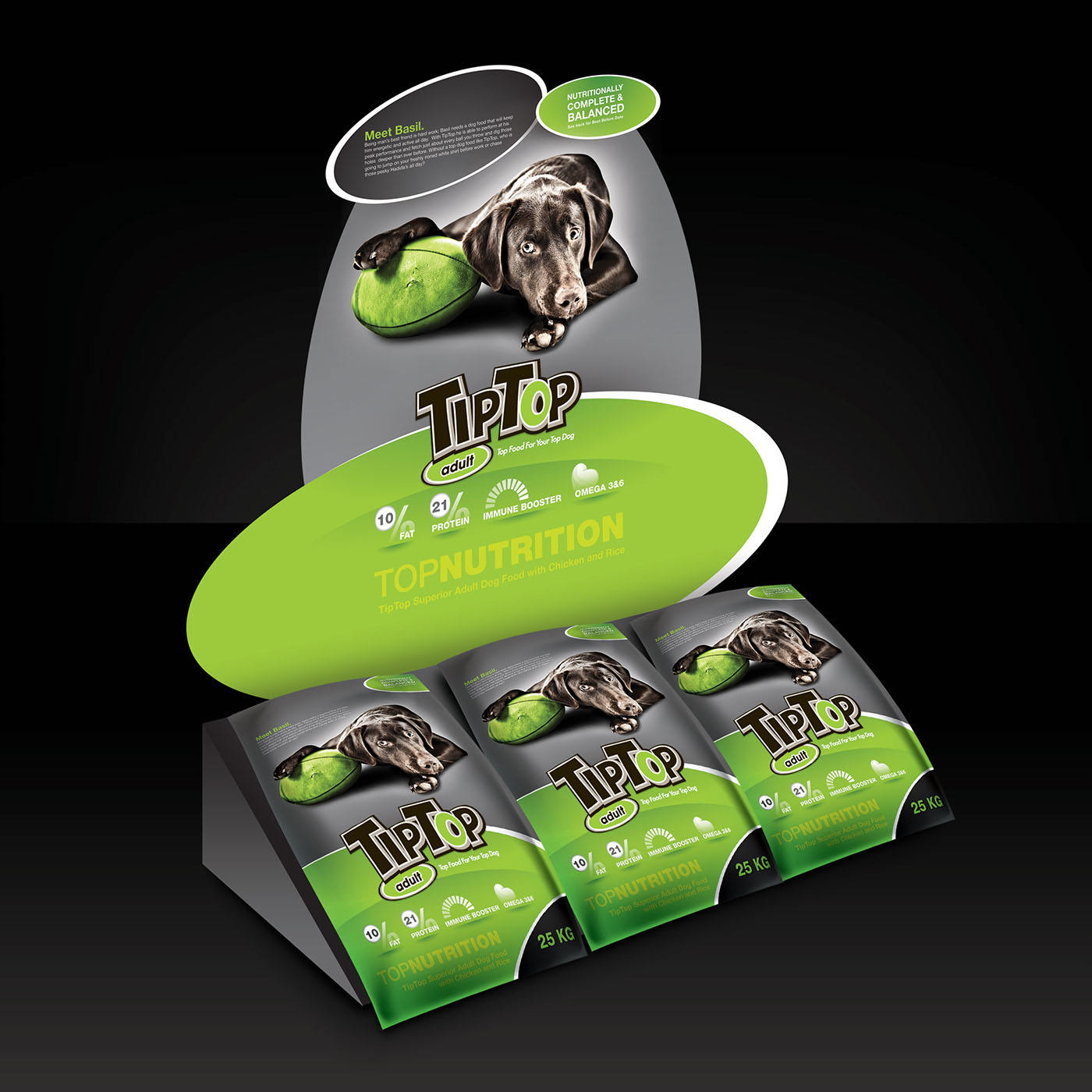 Tiptop Dog Food On Behance