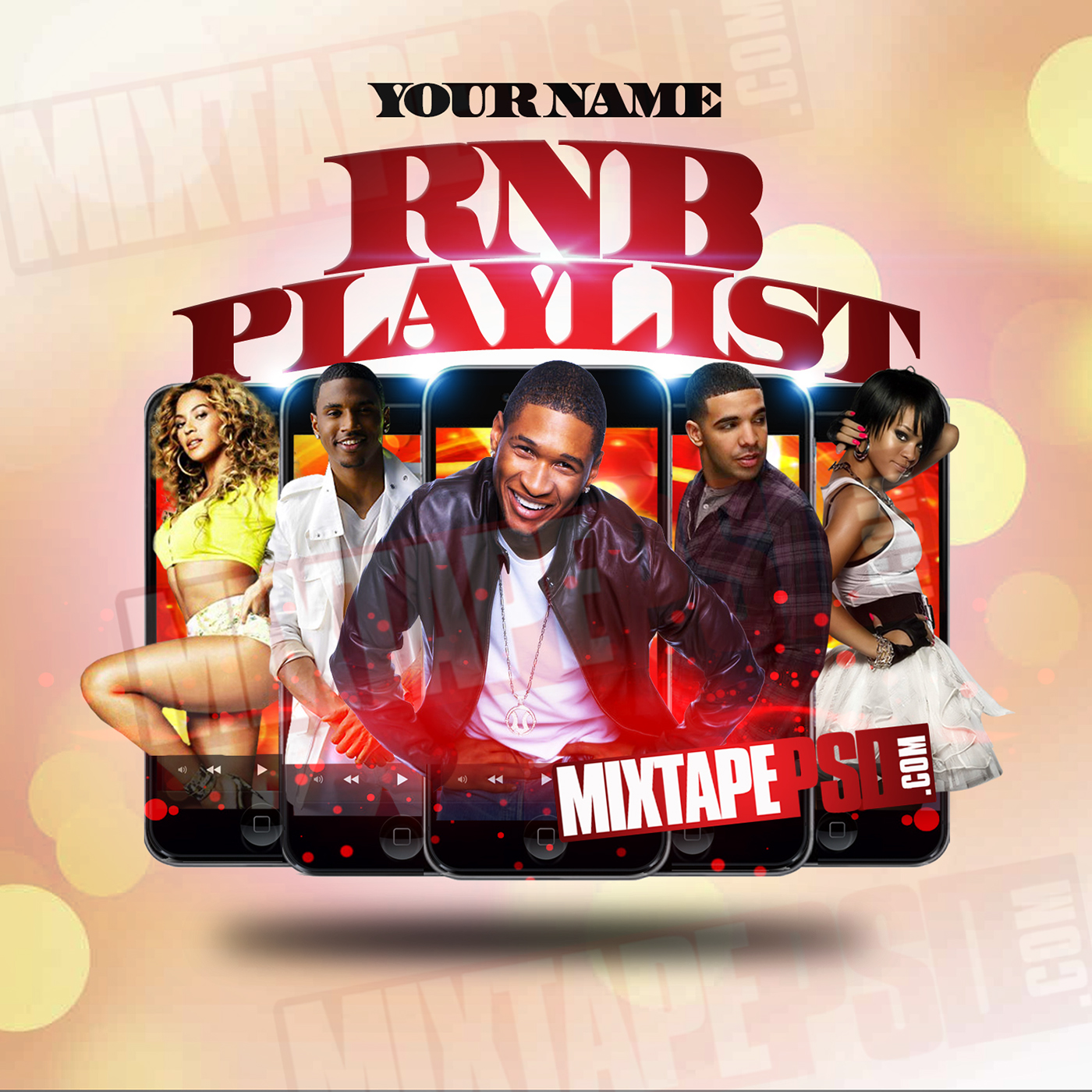 rnb playlist mixtape cover template on behance