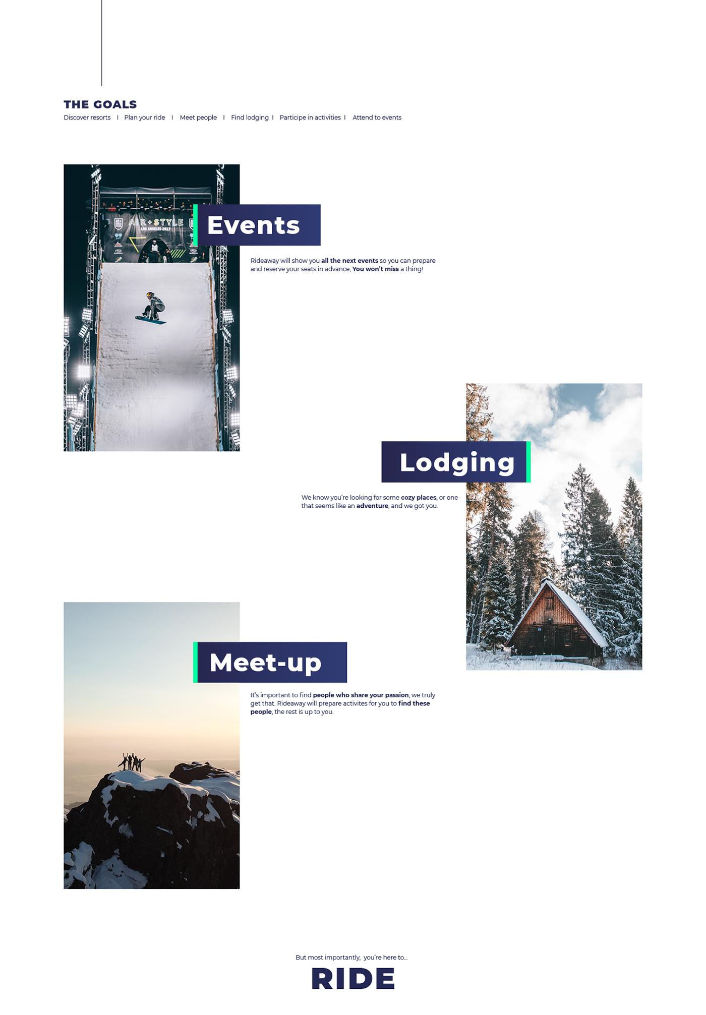 ui design UI / UX design Webdesign Web webdoc motion design product design  snowboard