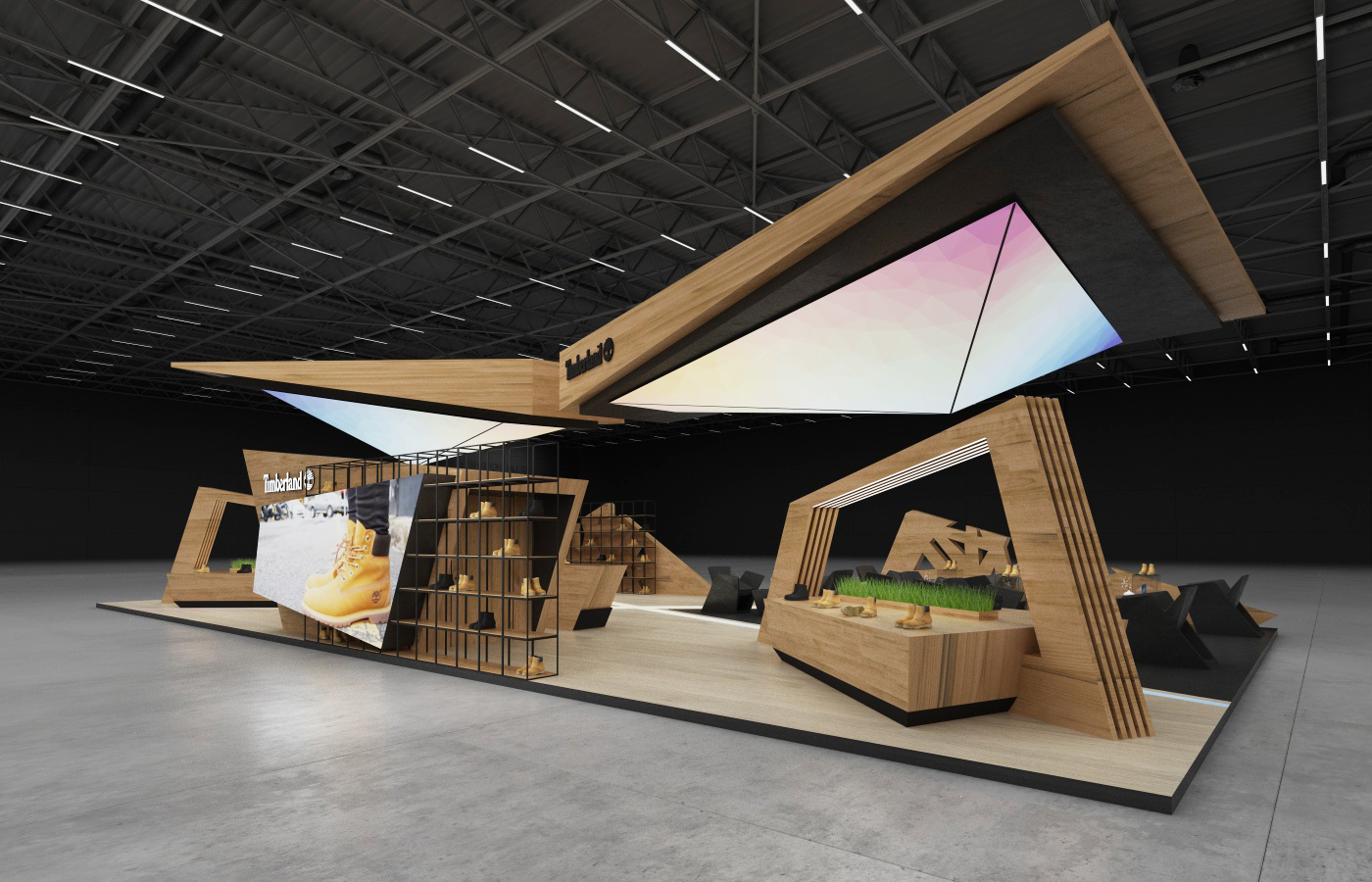 Expo Stands For What : Timberland exhibition stand on behance