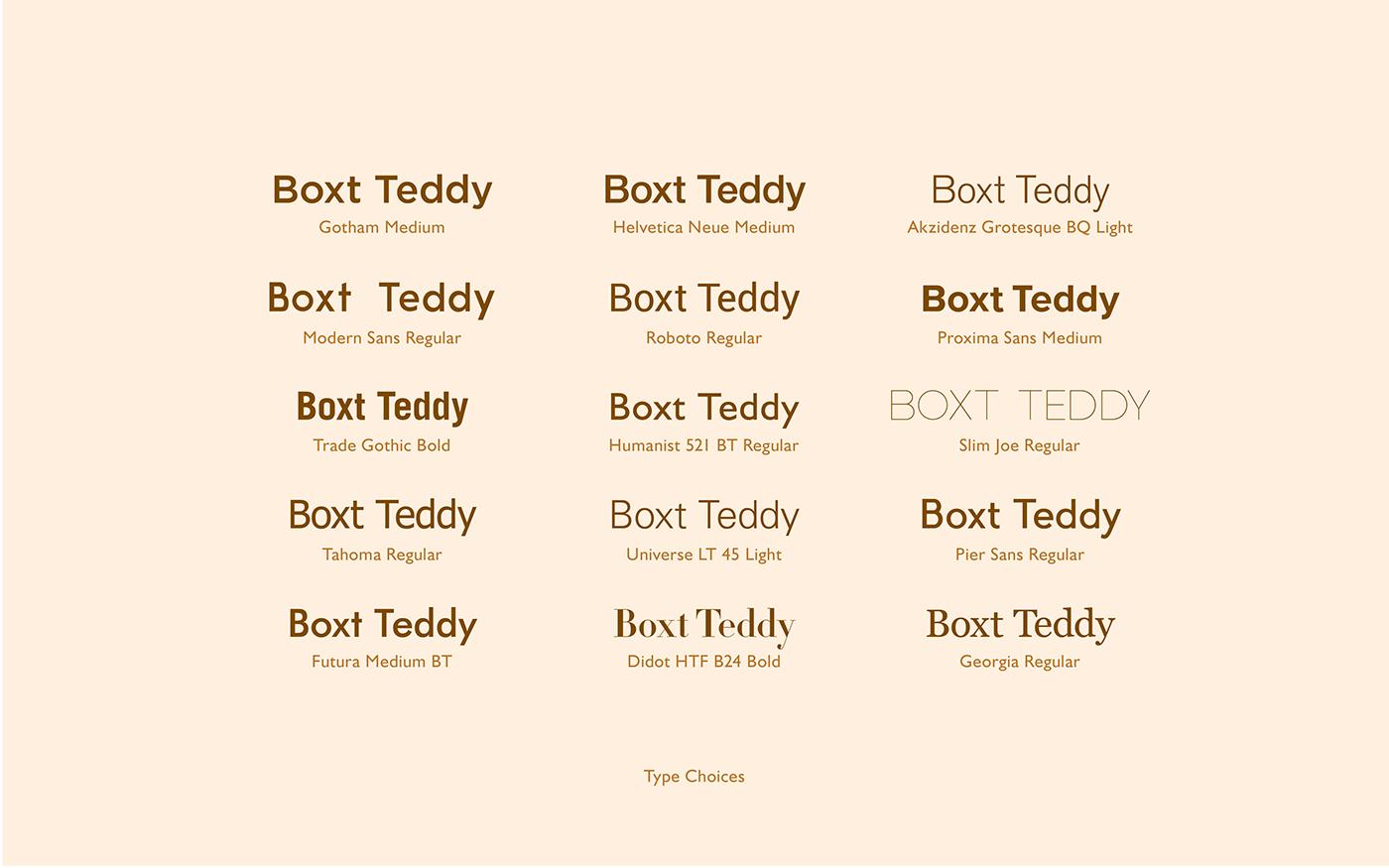 Boxt Teddy Branding on Behance