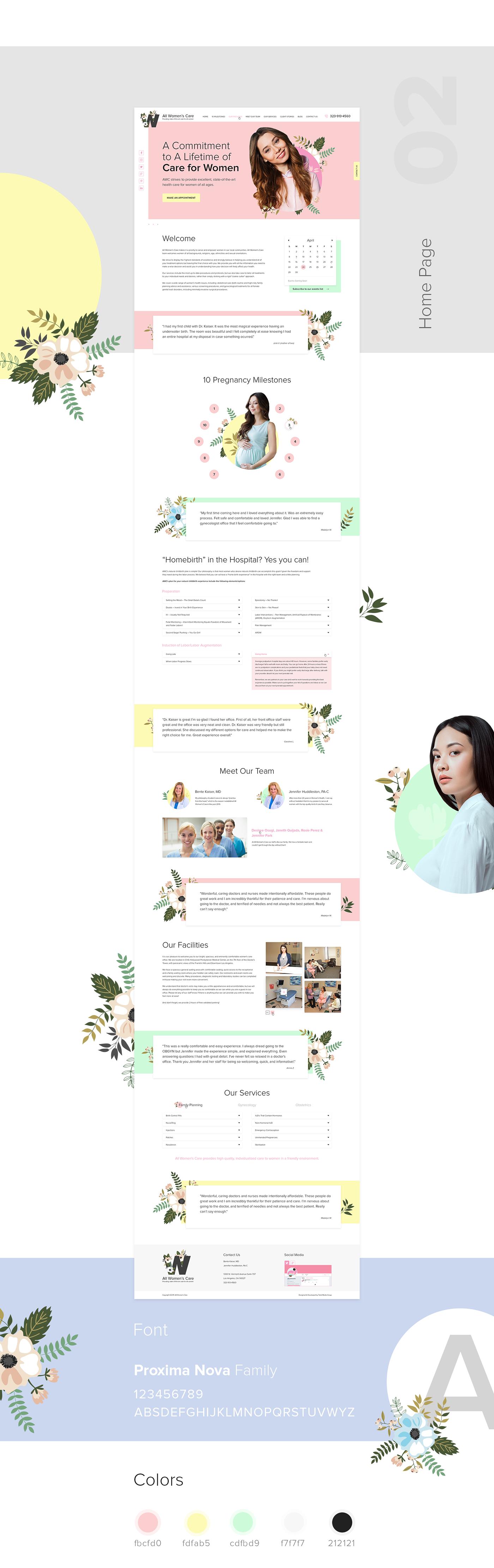 Vanilla UI design Women's Care Website on Behance