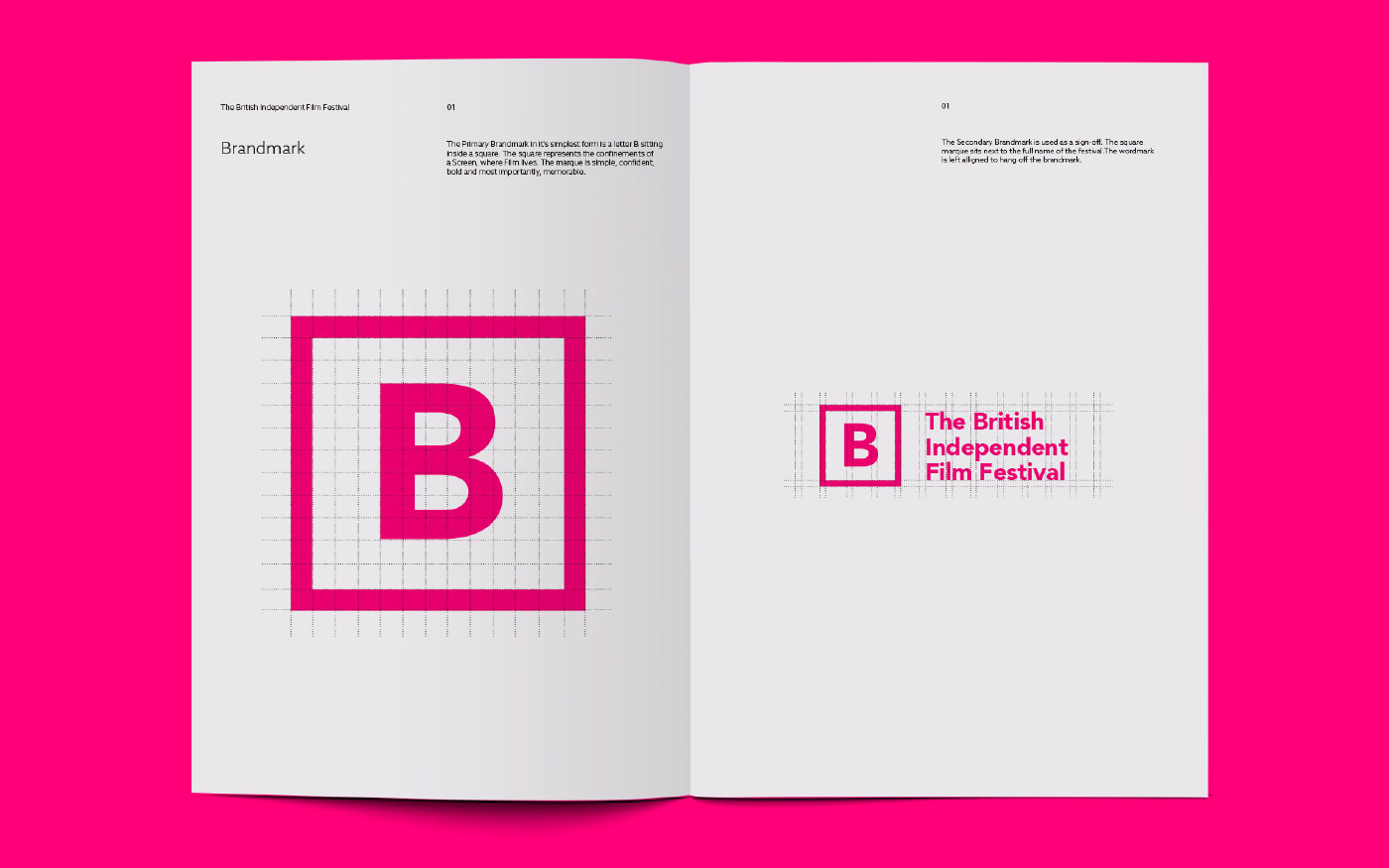 British  film  festival  independent identity Promotion Website neon pink tickets Listings editorial award wayfinding Exhibition  leeds