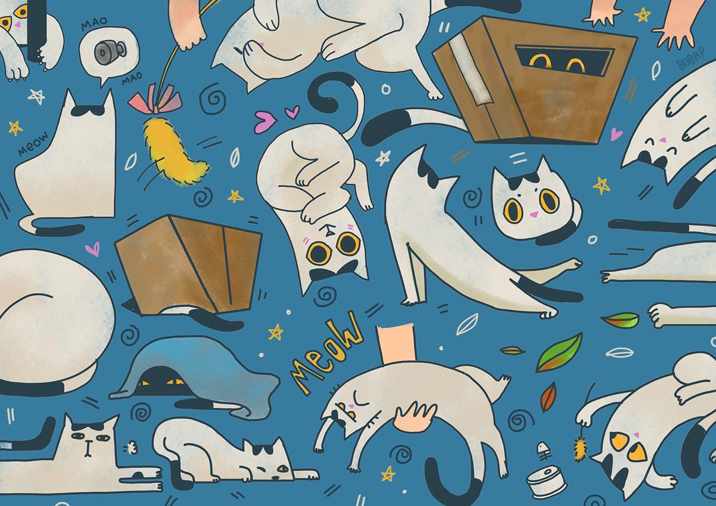 高質量的19款貓咪圖案欣賞