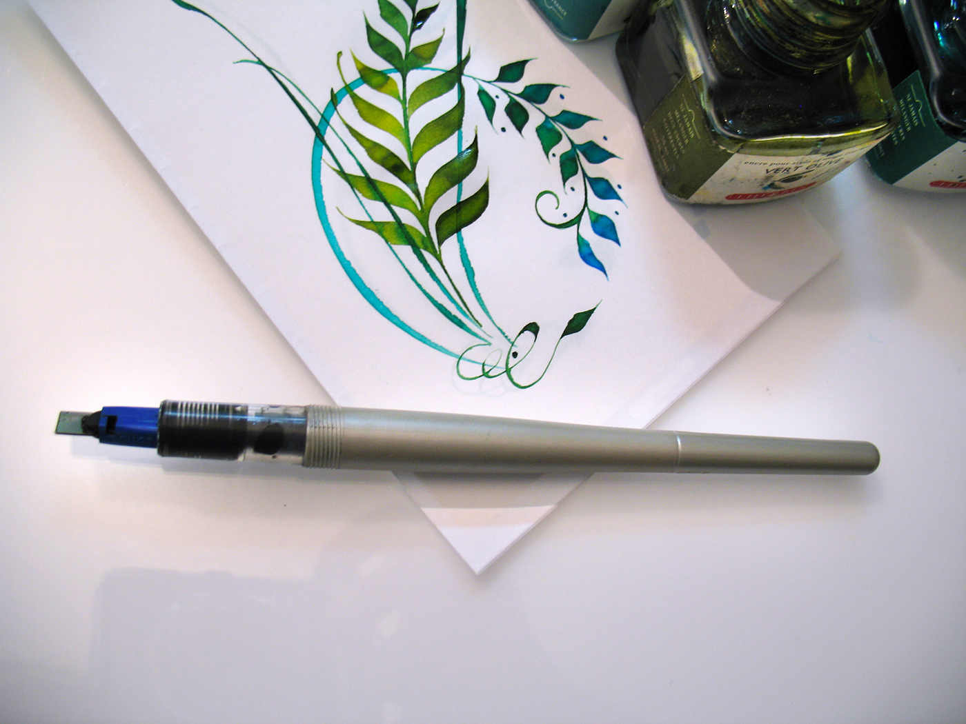 Online Calligraphy Class Organic Pen Ornaments On Behance