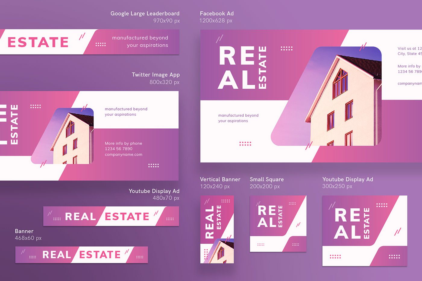 Real Estate Modern And Creative Templates Suite On Behance - Facebook ad design template