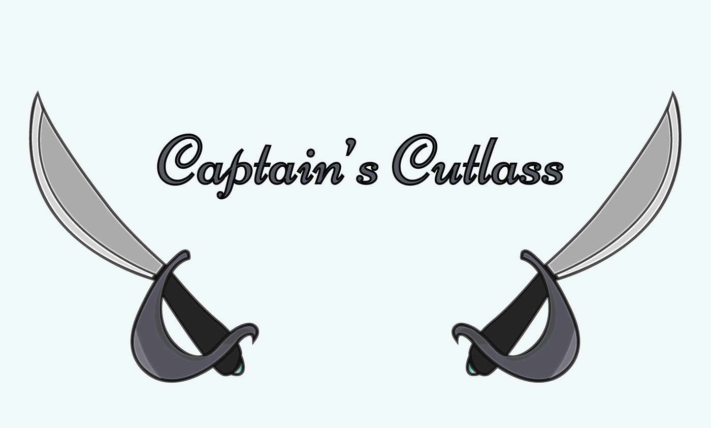pirate captain cutlass Sword branding  vector ILLUSTRATION