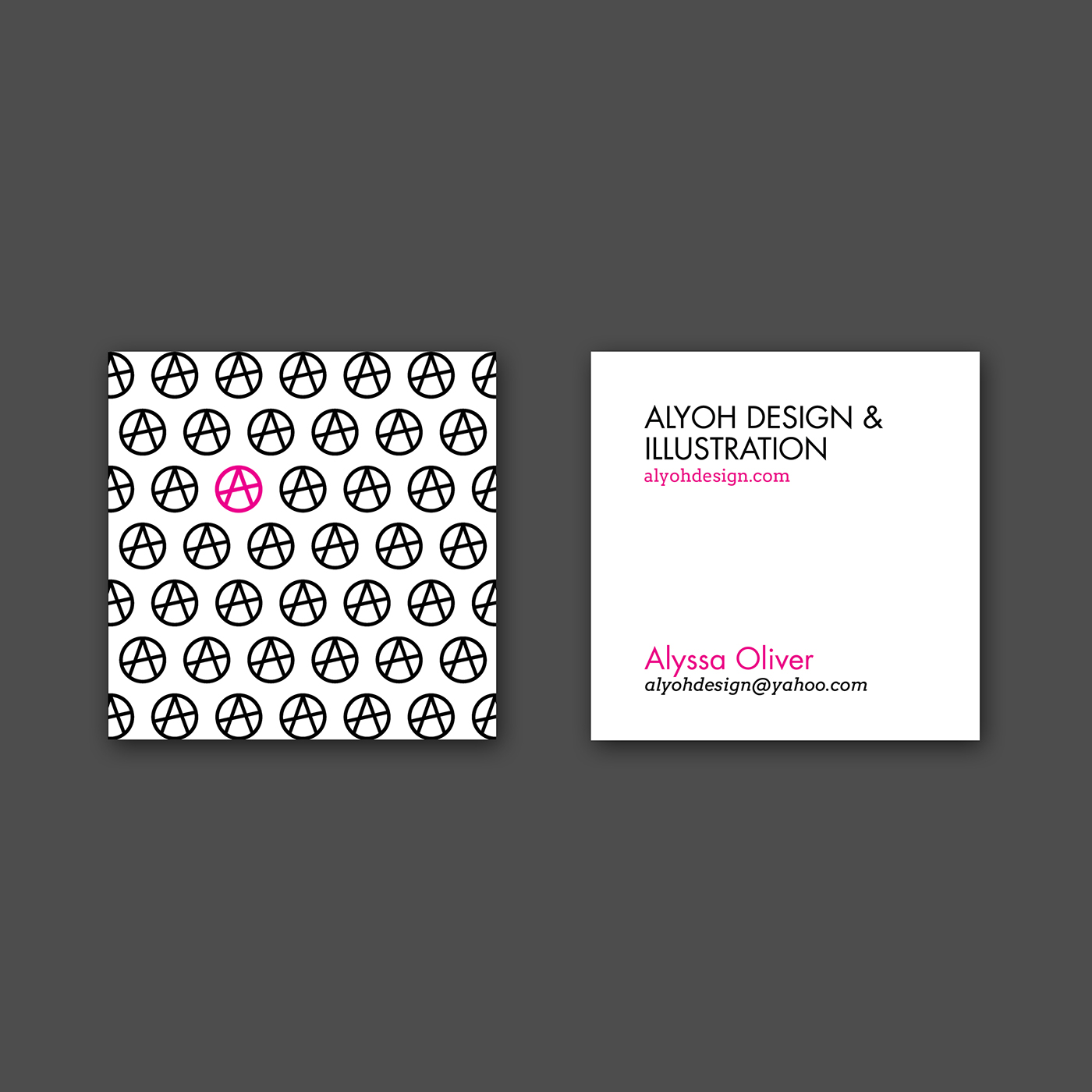 AlyOh Design Business Cards on Behance