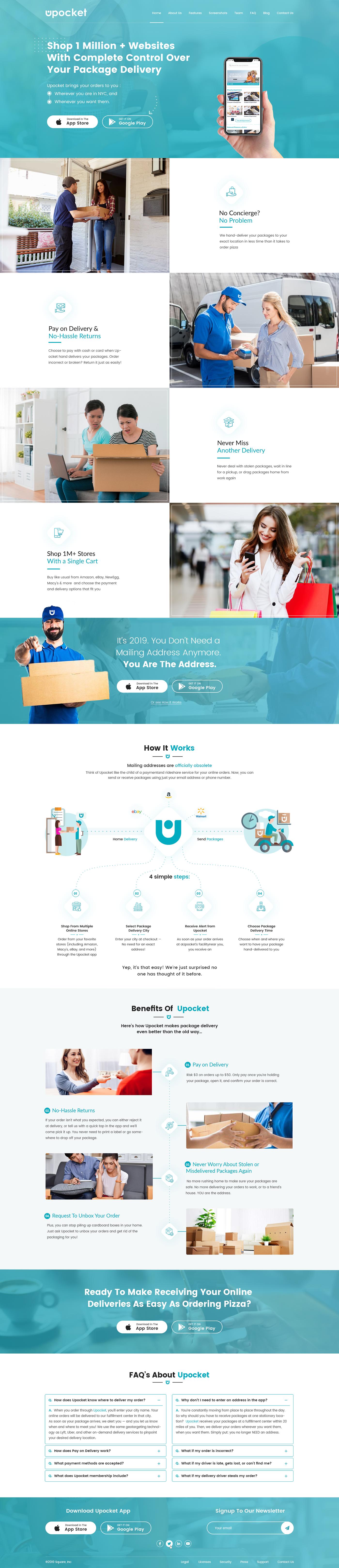 delivery service App Landing Page Website Design App Website modern website Website modern Web Design  app design app