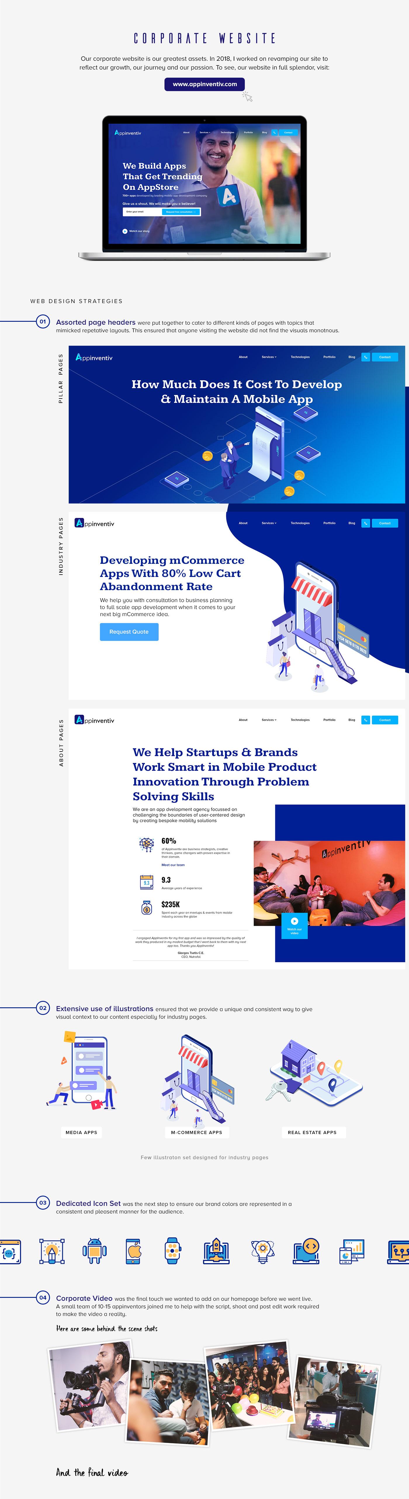 corporate branding Web Design  Logo Design Corporate Movie Mobile app development