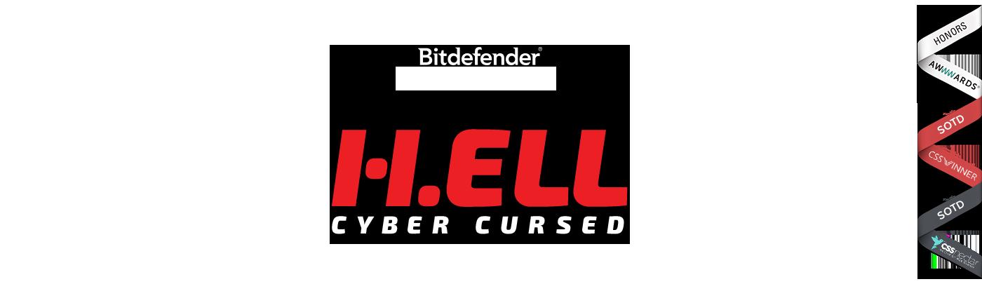 h.ell cyber Attack antivirus bitdefender comic interactive animation  Website Experience