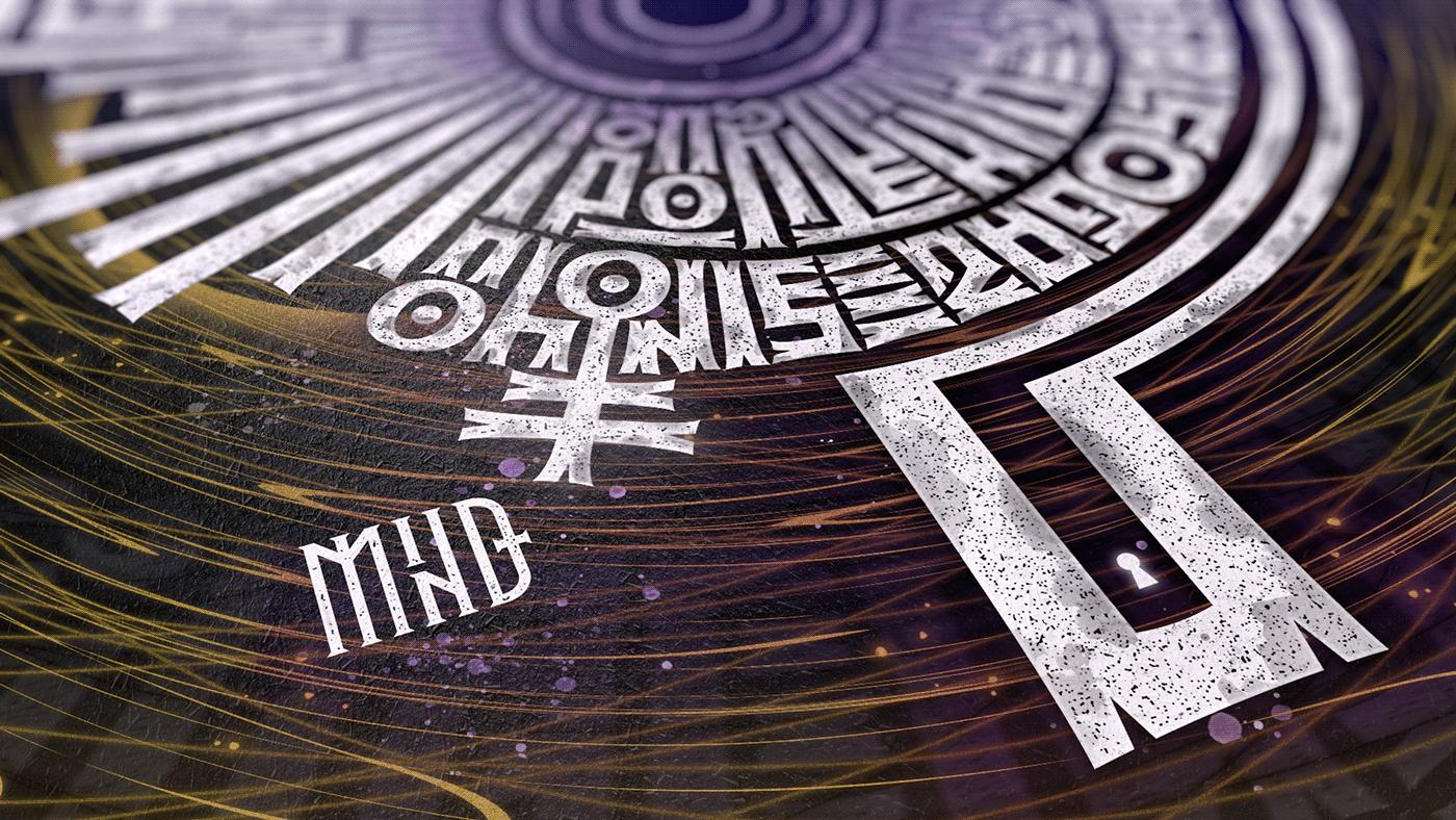 Abyss artwork canvas high style lettering Lettering Art modern art modern calligraphy Wiktor Ares nft