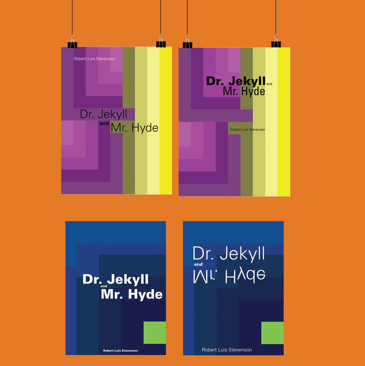 Dr. Jekyll and Mr. Hyde, Color Theory Book Covers on Behance