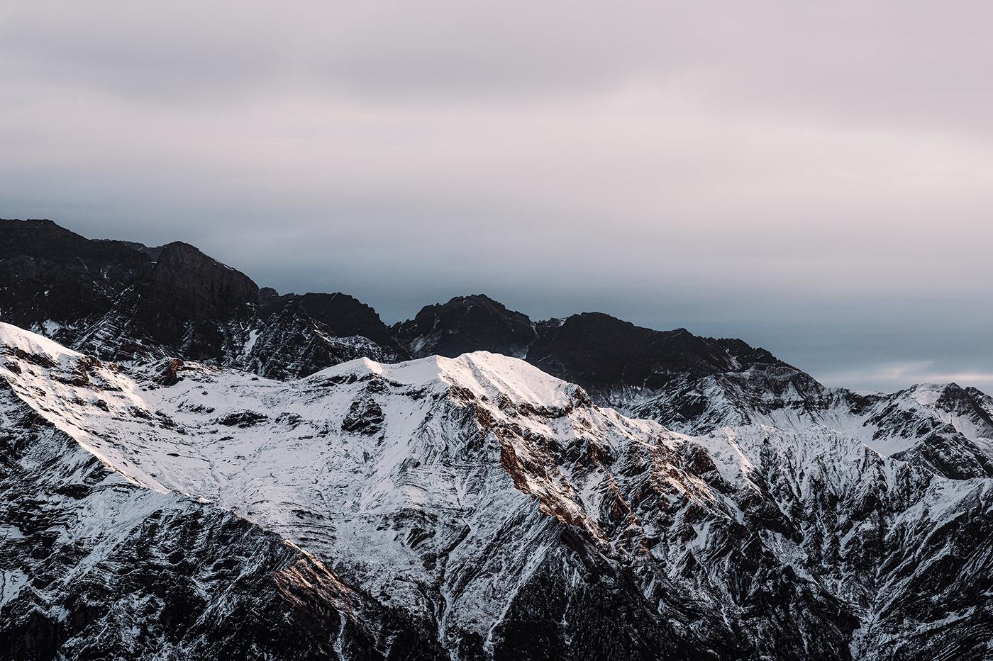 hiking Landscape mountain Nature Outdoor Sunrise Travel winter