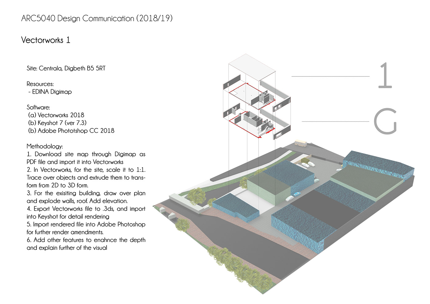 architecture Site Analysis ILLUSTRATION  3D Modelling Render visuals