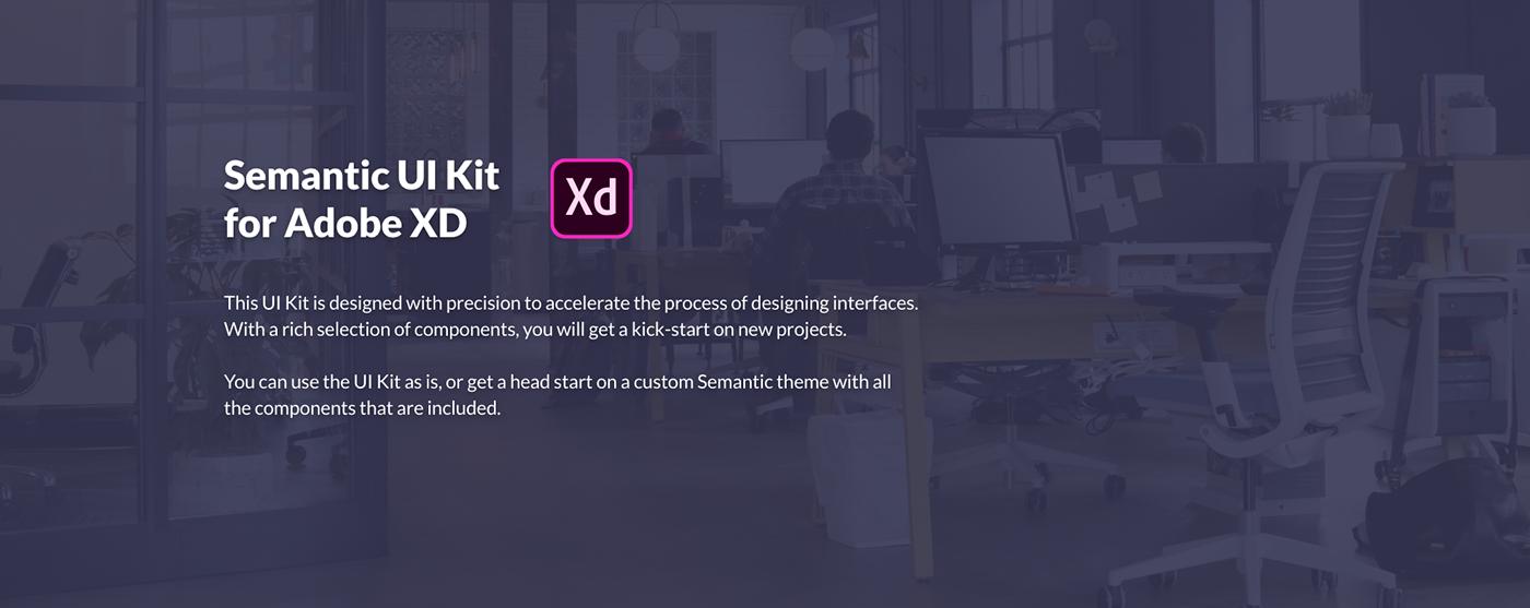ux UI xD Adobe XD freebie ui kit