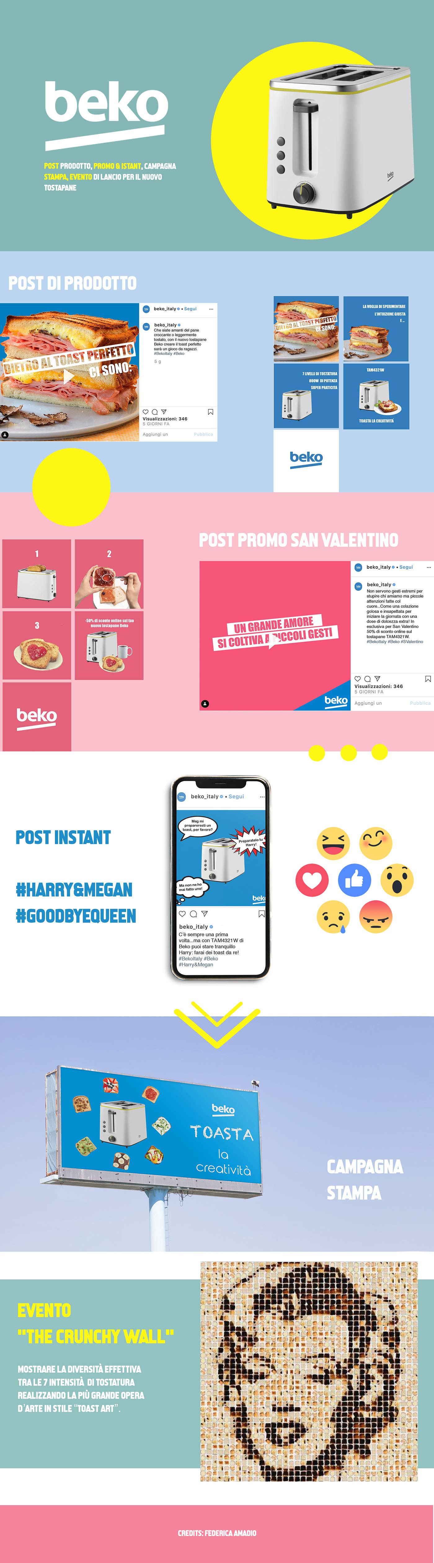 beko bekoitalia branding  copywriting  Creativity digital Event social