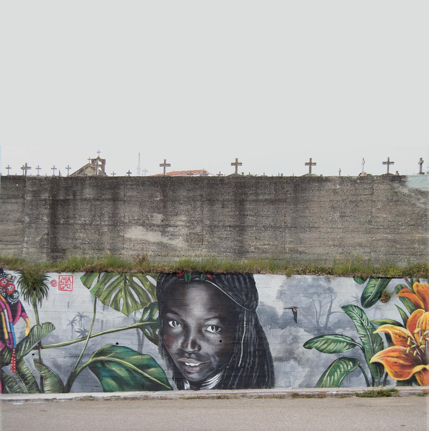 arte urbano fine art Graffiti Illustrator Lula Goce Mural streetart Urbanart
